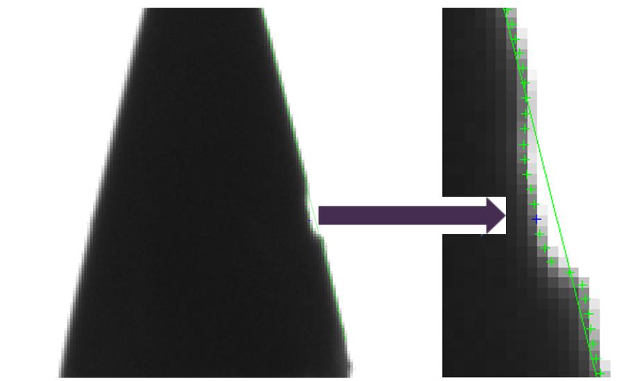 Subpixel-Vermessung